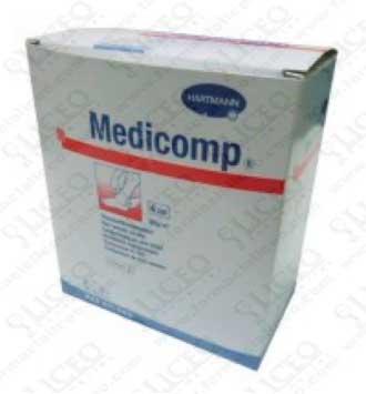 MEDICOMP COMPRESAS NON WOVEN APOSITO ESTERIL GASA SUAVE 10x10 CM 25 SOBRES 2 UNIDADES
