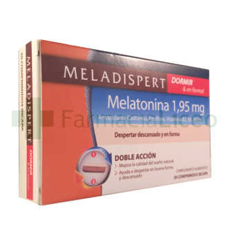 MELADISPERT DORMIR & EN FORMA COMP 1.95 MG 30 CO