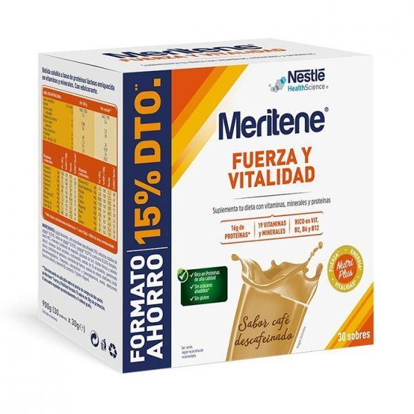 MERITENE PACK CAFE DESCAFEINADO 30 SOBRES