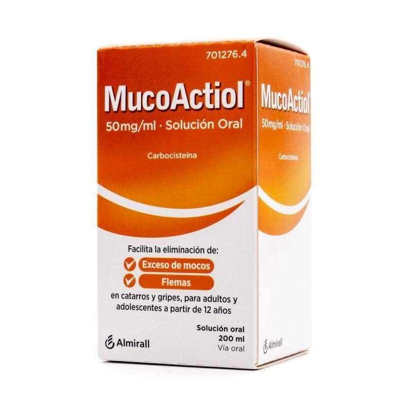 MUCOACTIOL 50 MG/ML SOLUCION ORAL 200 ML