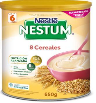 NESTLE NESTUM EXPERT PAPILLA 8 CEREALES 650 GR