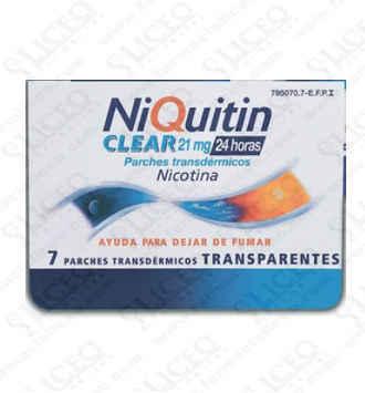 NIQUITIN CLEAR 21 MG/24 H 7 PARCHES TRANSDERMICO