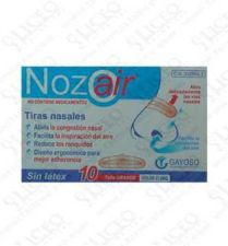 NOZOAIR TIRA NASAL COLOR CLARO T- GDE 10 U