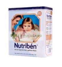 NUTRIBEN 8 CEREALES TOQUE MIEL Y GALLETAS MARIA 600 G LATA