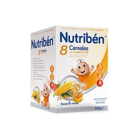 NUTRIBEN 8 CEREALES Y MIEL 600 GR