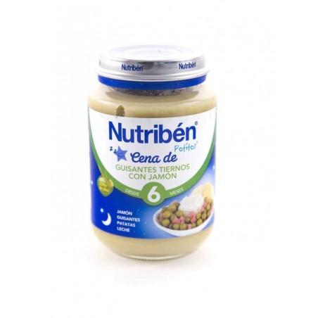 NUTRIBEN CREMA GUISANTES CON JAMON POTITO CENA 200 GR