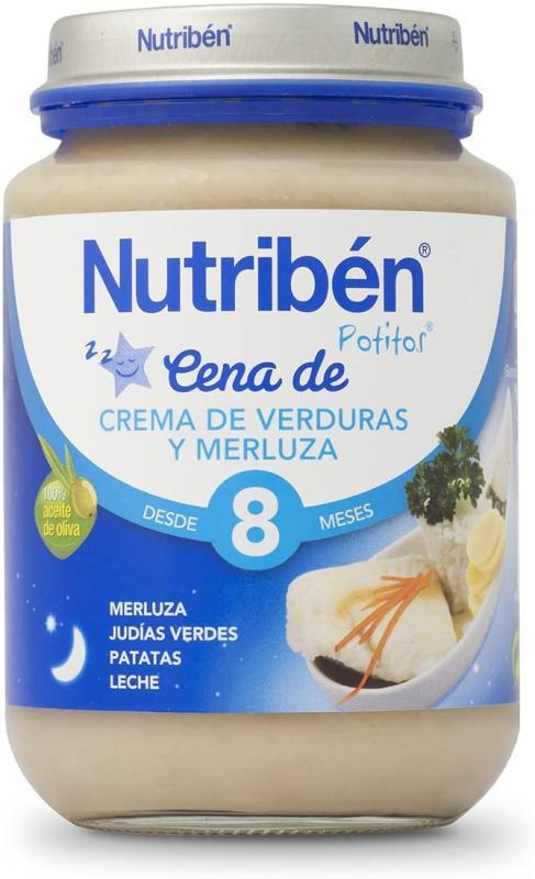 NUTRIBEN CREMA VERDURA CON MERLUZA POTITO CENA 200 GR