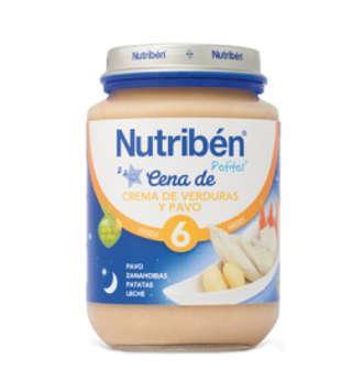 NUTRIBEN CREMA VERDURA CON PAVO POTITO CENA 200 GR