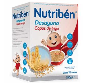 NUTRIBEN DESAYUNO COPOS DE TRIGO 750 GR