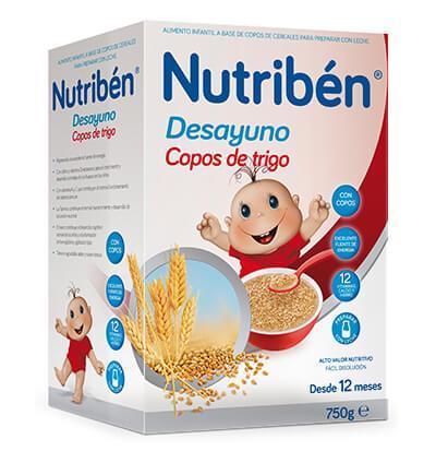 NUTRIBEN DESAYUNO COPOS DE TRIGO CON FRUTAS 750 GR