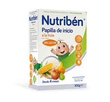 NUTRIBEN INICIO A LA FRUTA PAPILLA SIN GLUTEN 300 GR