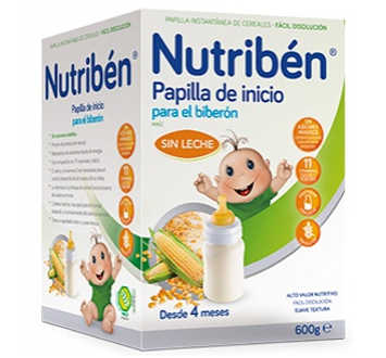 NUTRIBEN INICIO BIBERÓN PAPILLA SIN GLUTEN 600 GR