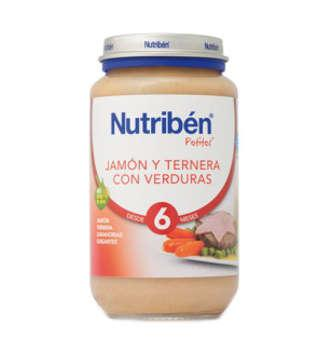 NUTRIBEN JAMON TERNERA VERDURA POTITO JUNIOR 200 GR
