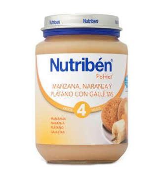 NUTRIBEN MANZANA NARANJA PLATANO Y GALLETA POTITO JUNIOR 200 GR