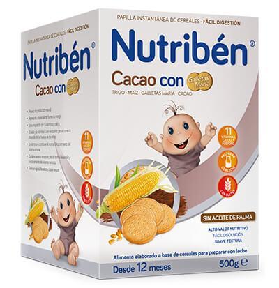 NUTRIBEN PAPILLA CACAO CON GALLETAS MARIA 600 G