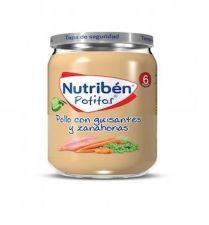 NUTRIBEN POLLO CON GUISANTES Y ZANAHORIAS POTITO 235 G