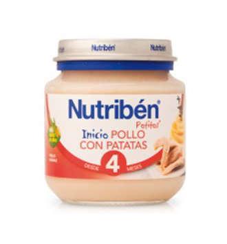 NUTRIBEN POLLO CON PATATAS POTITO INICIO 130 GR