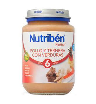 NUTRIBEN POLLO TERNERA VERDURA POTITO JUNIOR 200 GR