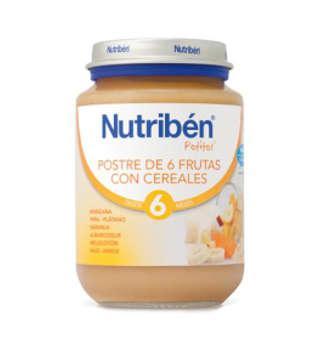NUTRIBEN POSTRE DE 6 FRUTAS CON CEREALES POTITO 130 GR