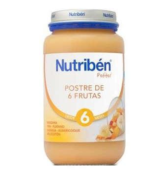 NUTRIBEN POSTRE DE 6 FRUTAS POTITO GRANDOTE 250 GR
