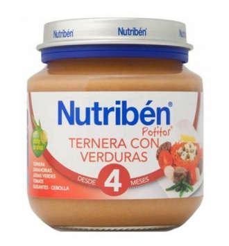 NUTRIBEN TERNERA CON VERDURA POTITO INICIO 130 GR