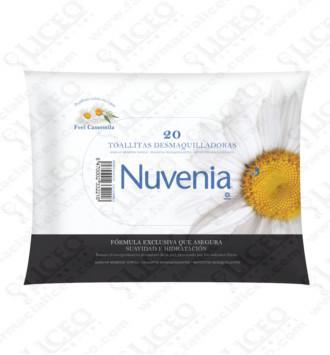 NUVENIA TOALLITAS DESMAQUILLADORAS 20 TOALLITAS