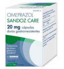 OMEPRAZOL SANDOZ CARE 20  14CA
