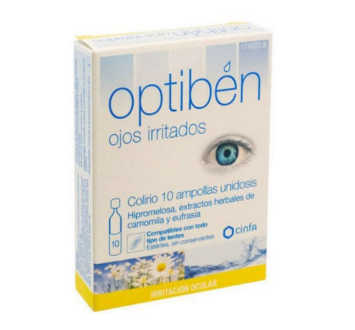 OPTIBEN OJOS IRRITADOS UNIDOSIS ESTERIL SEQUEDAD