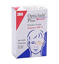 OPTICLUDE PLUS PARCHES OCULARES T- GDE  20 U