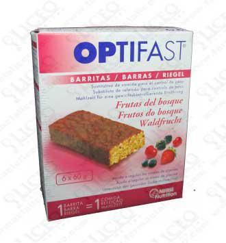 OPTIFAST BARRITAS FRUTAS DEL BOSQUE 6 BARRITAS