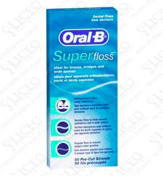 ORAL-B SUPERFLOSS SEDA DENTAL 50 UNIDADES