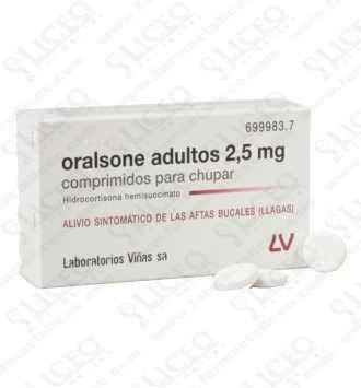 ORALSONE ADULTOS 2.5 MG 12 COMPRIMIDOS PARA CHUP