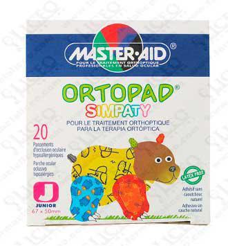 ORTOPAD SIMPATY PARCHES OCULARES T- JUNIOR (- 2 AÑOS) 20 PARCHES