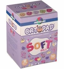 ORTOPAD SOFT PARCHES OCULARES GIRLS MEDIUM 50 U
