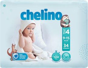 PAÑAL INFANTIL CHELINO  T- 4 (9 -15kg) 34UNIDADES