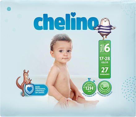 PAÑAL INFANTIL CHELINO  T- 6 (17 -28kg) 27 UNIDADES