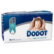 PAÑAL INFANTIL DODOT PRO SENSITIVE T- 0 -3 KG 38 UNIDADES