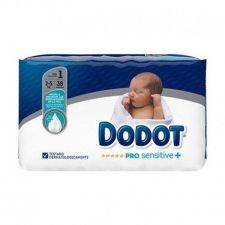 PAÑAL INFANTIL DODOT PRO SENSITIVE T- 1 2-5 KG 38 UNIDADES