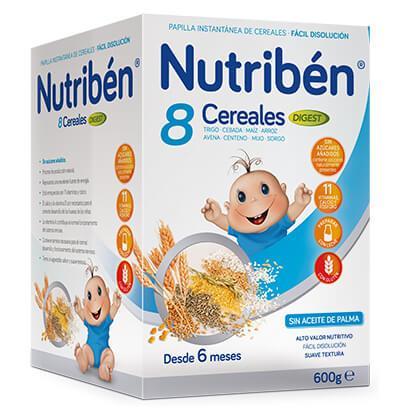 NUTRIBEN PAPILLA 8 CEREALES DIGEST 600 GR