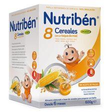 PAPILLA NUTRIBEN 8 CEREALES Y MIEL DIGEST 600 G