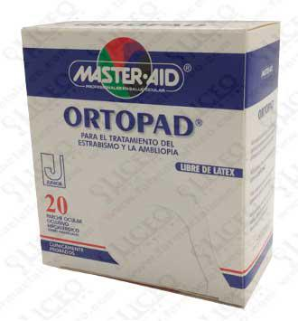 PARCHES OCULARES MASTER AID ORTOPAD JUNIOR 20 PARCHES