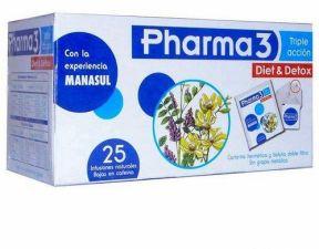 PHARMA3 DIET & DETOX 1.5 G 25 FILTROS