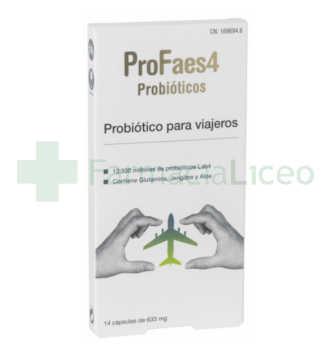 PROFAES4 PROBIOTICO PARA VIAJEROS 14 CAPSULAS