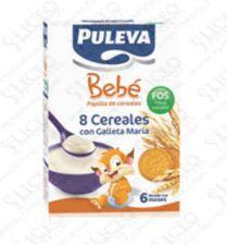 PULEVA BEBE PAPILLA 8 CEREALES GALLETA MARIA FOS