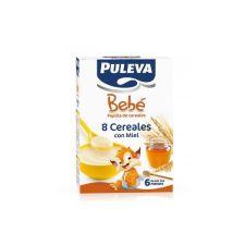 PULEVA BEBE PAPILLA 8 CEREALES Y MIEL 500 G