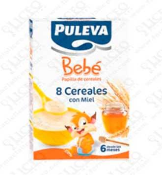 PULEVA BEBE PAPILLA 8 CEREALES Y MIEL 300 GR 2 UNIDADES