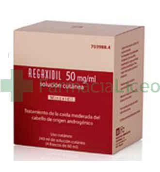 REGAXIDIL 50 MG/ML SOLUCION CUTANEA 3 FRASCOS 60