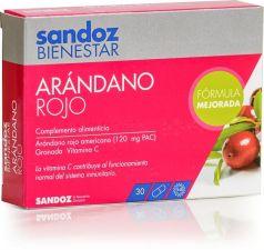 SANDOZ BIENESTAR ARANDANO ROJO CRANBERRY 30 CAPSULAS