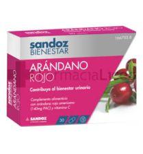 SANDOZ BIENESTAR ARANDANO ROJO CRANBERRY 30 CAPS
