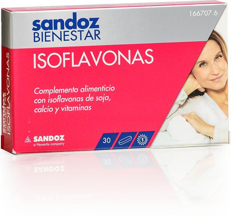 SANDOZ BIENESTAR ISOFLAVONAS 30 COMPRIMIDOS